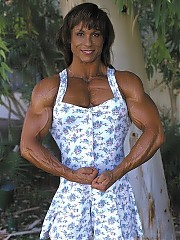 Kelly Felske hits her very muscular upper body shots and some lower body