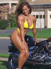 Meral Ertunc a beautiful and leanly developed bodybuilder, and plenty of very feminine muscle