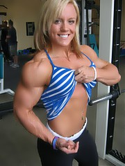 Women with muscle.