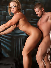 NPC bodybuilder Amanda Folstad and her man