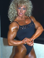 Hannie Van Aken is well developed throughout, but her biceps are legendary