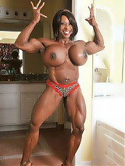 Art of big women with muscles.