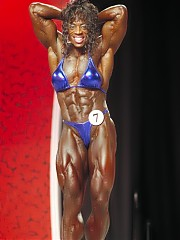 Stage shots taken at the 2006 Ms Olympia