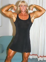 Joanne Lee upper body is legendary, featuring some of the largest, best shaped biceps ever
