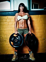 Muscular babes, fitness competitors, and sports cuties. Free