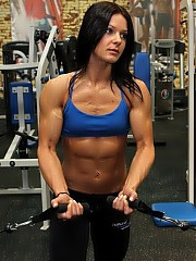 Female bodybuilders, powerlifters, fitness girls.