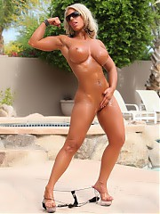 Beautiful girls with muscles, female bodybuilders, fitness babes, naked muscular women