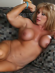 Beautiful and big Kat Connors is here showing off her rock hard body.