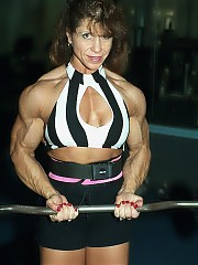 Michelle Ivers is very densely muscled in all body parts